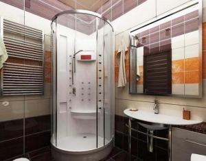 дизайн маленьких ванных комнат с душевой кабиной