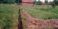 устройство дренажной канавы