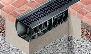 водоотводной лоток бетонный с решеткой 200