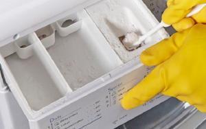 удаление накипи в стиральной машине лимонной кислотой