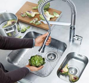 разборка крана смесителя на кухне