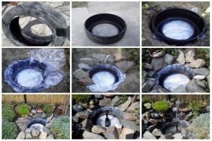 как сделать фонтан в саду своими руками