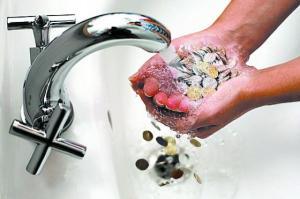 средний расход воды на человека в месяц