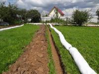 проведение дренажных работ на земельном участке